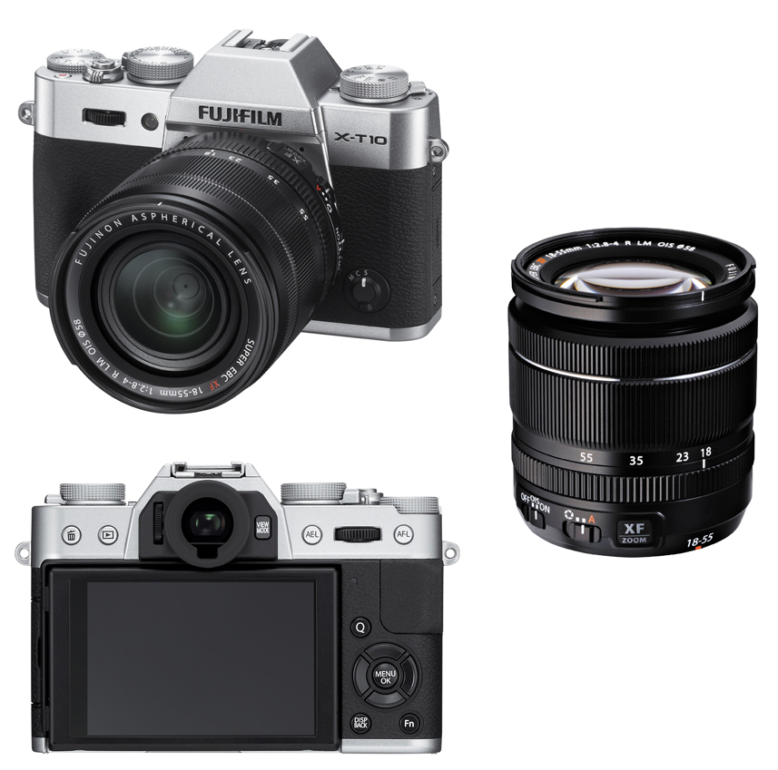 Fujifilm X-T10 Mirrorless 16MP + XF 18-55mm f/2.8-4 - Silver + + FREE ...