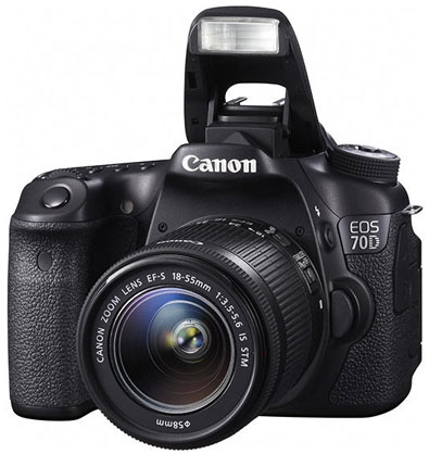 Canon EOS 70D Kit 18-55mm F3.5-5.6 IS STM Lens Built-in WiFi Digital ...